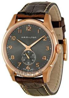 Hamilton Jazzmaster Grey Dial Brown Leather Strap Mens Watch H38441583