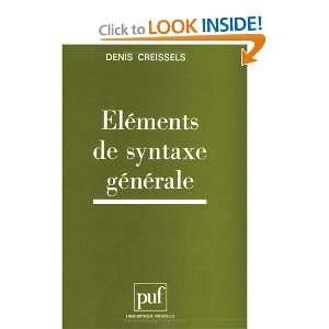 Elements de syntaxe generale (Linguistique nouvelle) (French Edition)