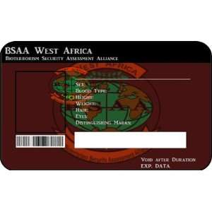 BSAA South America ID Card Resident Evil Custom Office