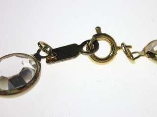 SWAROVSKI Gold Tone Black Clear Crystal Bracelet