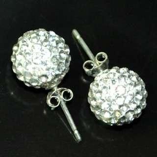 Rhinestone Earring White Swarovski Crystal Ball Earring Stud