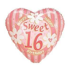 Sweet 16 Heart Birthday 9 Air Filled Cup & Stick Included