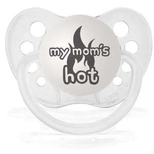 Personalized Pacifiers My Moms Hot Pacifier   Clear Baby