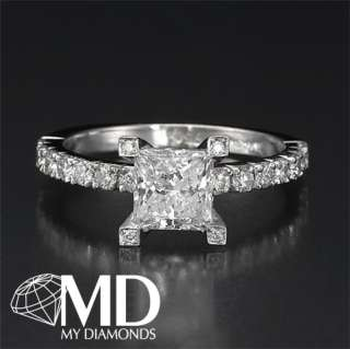 14KT WHITE GOLD DIAMOND ENGAGEMENT RING 1.25 CT WEDDING SOLITAIRE