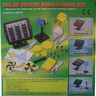Deluxe Solar Panel Education Kit, Fan, Light, Music sun