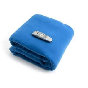 Super Soft Fleece Blanket With Free Book Light  NAVY BLUE. The Blanket