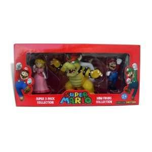 Nintendo Super Mario 3 pcs Figure set (Bowser, Mario and