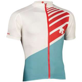 NEW DESCENTE HORSE THEIF JERSEY MENS ROAD BIKE CYCLING WHITE / BLUE
