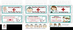 NURSE DOCTOR VET candy bar wrappers BIRTHDAY PARTY GIFT