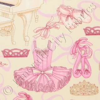 RJR Bella Ballerina Ballet Dance Studio Cream Pink Cotton Quilt Fabric