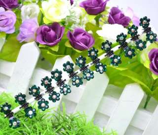 12pcs Cute Mini Small Rhinestone Flower Hair Clips Claws Clamps Grips