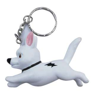 Cute ! 7x Disney Bolt Dog Rhino figures Key Chain Set