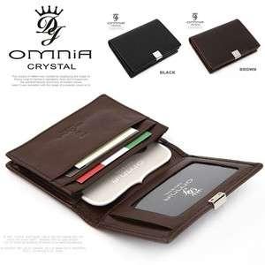Leather Business Credit Card Holder Case Wallet Black Brown 1127US