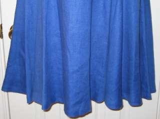 RALPH LAUREN BLUE HALTER DRESS 100% LINEN NWT $189