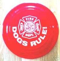 FIRE DEPARTMENT DOG FRISBEE MALTESE CROSS DESIGN