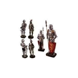 of 3 Knights W Suits of Medieval Roman Armor Patio, Lawn & Garden