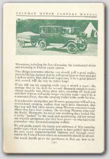 1926 Coleman Campers   Vintage Camping Manual on CD
