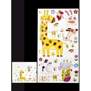 Giraffe Animal Wall Stickers Kids Room Nursery Wall Decals