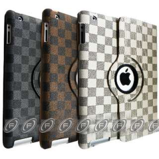 Stylish Magnetic Smart Leather Case Cover w/ Stand for iPad2 Wake