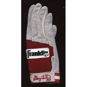 Gary Carter Red Franklin Game Issued Batting Glove Auto   Game Used