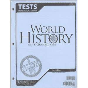 World History Tests Answer Key BJU Press 9781591664369