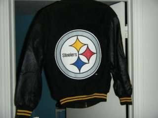 Carl Banks G III Pittsburgh Steelers Suede/Leather Jacket size [SM