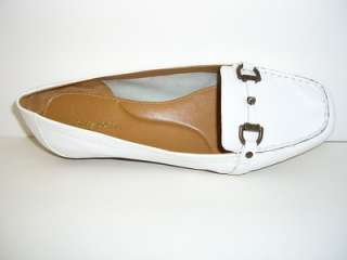 EASY SPIRIT Womens Shoes White Leather Loafers Size 8WW