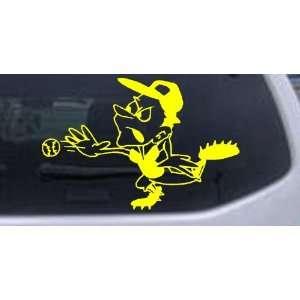 Yellow 6in X 4in    Fast Ball Baseball Sports Car Window Wall Laptop