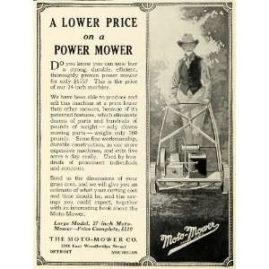 Moto Mower Co Detroit Michigan   Original Print Ad: Home & Kitchen