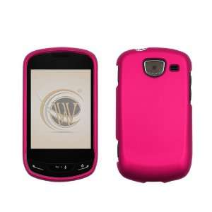 Rose Pink Rubberized Hard Case Cover for Verizon Samsung