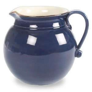 Ceramiche Alfa Ital Earthenware Dark Blue Pitcher 5.14