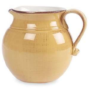 Ceramiche Alfa Ital Earthenware Honey Gold Pitcher 5.14