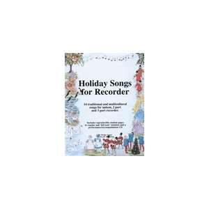 Holiday Songs for Recorder Book & CD Musical Instruments