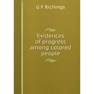of progress among colored people G F Richings  Books