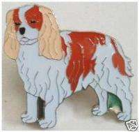 Cavalier King Charles Spaniel Dog Push Pin Brooch #43