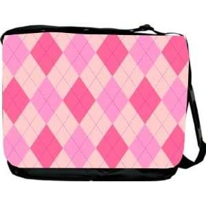Rikki KnightTM Triple color Pink Argyle Design Messenger Bag   Book