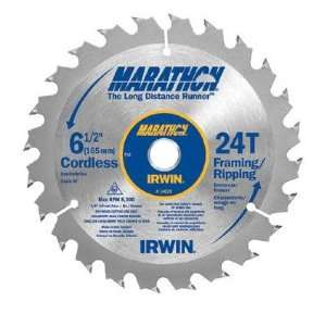 Circular Saw Blades   6 1/2in x 24t framing/ripping 5/8in arbor   bulk