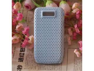 New Soft Hard Rubber Case Cover For Nokia E63 White