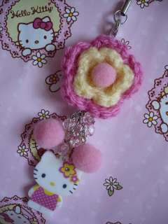 Sanrio Hello Kitty Flower Mobile Cell Phone Strap 2008