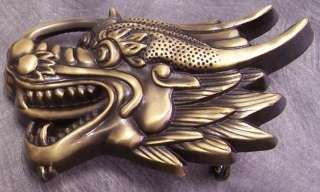 Pewter Belt Buckle animal Medieval Dragon Head NEW