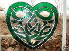 Celtic Knot Stained Glass Heart Suncatcher Wicca