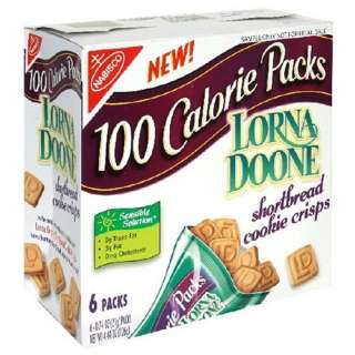 100 Calorie Packs Lorna Doone Shortbread Cookie Crisps, 6 Count Boxes