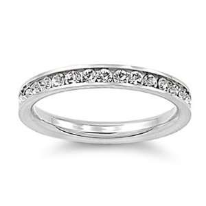 Stainless Steel Eternity Cz Wedding Band Ring 3mm Sz 3 10; Comes With