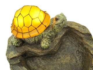 Amber Turtle Solar Light Bird Bath Birdbath Statue