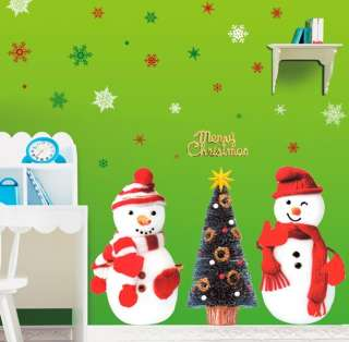 Christmas Snowman Wall STICKER Removable Decor Decal
