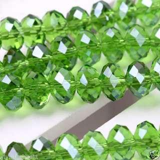 6x8mm Green Swarovski Crystal Loose Bead 72PCS