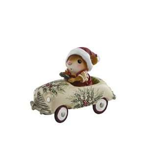 Wee Forest Folk Christmas Petal Pusher Figurine