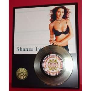 SHANIA TWAIN GOLD RECORD LIMITED EDITION DISPLAY
