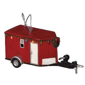 Fish House Ice Fishing Ornament Home & Kitchen