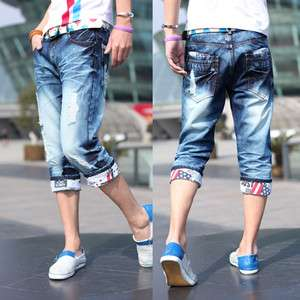 Man Mens Casual Jeans Short Pants Short Slim Jeans Top Designed JK29
